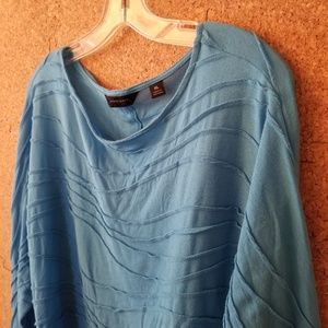 Investments Wavy Button Back Blouse